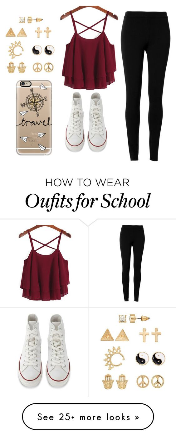 """No school!!!"" by elisabeth2004 on Polyvore featuring Max Studio, Converse, Mudd and Casetify"
