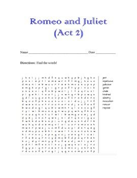 "romeo and juliet journal act 2 A teacher's guide to the signet classics edition of romeo & juliet by william   dents keep a reading journal or annotate their copies of the play to track  "" kaneland high school - romeo and juliet, act 2, prologue, scene 1 & 2 - fall  2015."