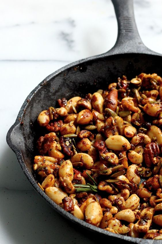 Perfect for the holidays! Sweet & Spicy Mixed Nuts   bakerbynature.com