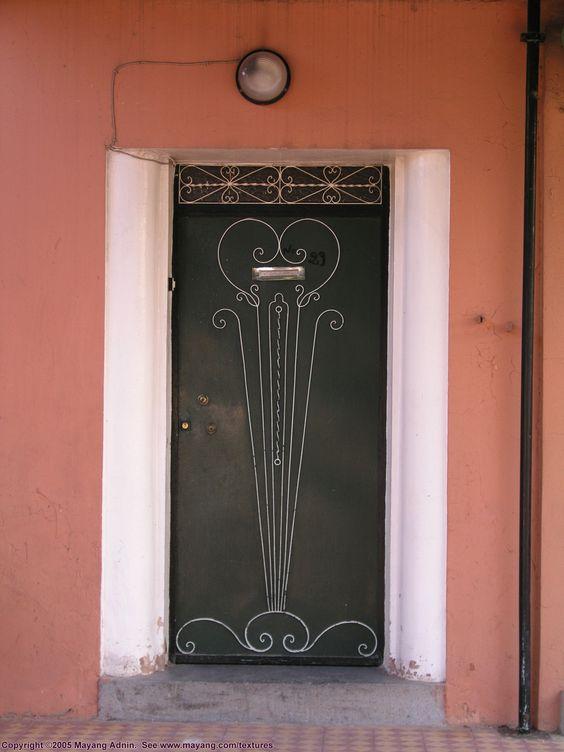 tradtional moroccan metal door