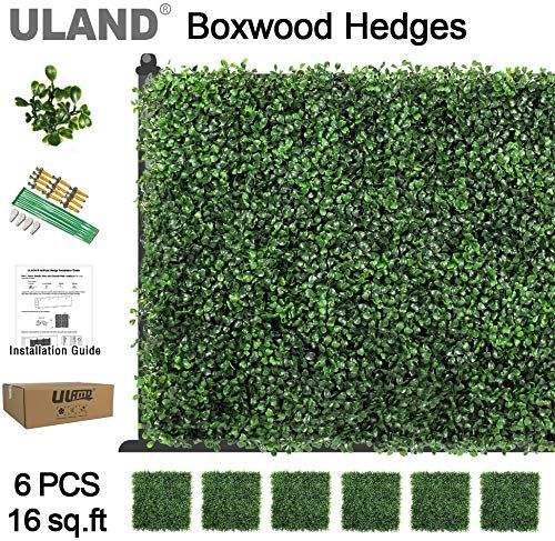 Enjoy Exclusive For Uland Artificial Boxwood Hedges Panels Greenery Backdrop Grass Wall Wedding Pack 6pcs 20 X20 Online Findtopbrandsgreat In 2020 Artificial Boxwood Boxwood Hedge Faux Grass
