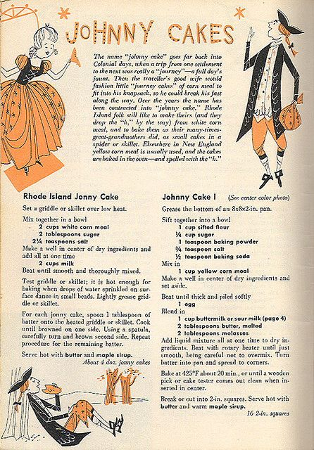The New England Cookbook - Johnny Cakes by 4 Color Cowboy, via Flickr