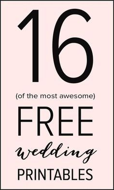 16 free wedding printables