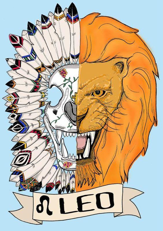 FRIDA KAHLO, leo Limited edition zodiac sign, Original Illustration, Fine Art Print, feather headress