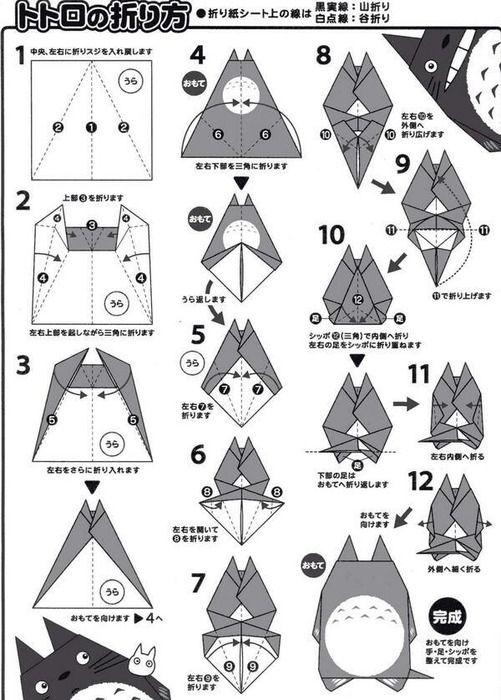 クリスマス 折り紙 折り紙 トトロ : jp.pinterest.com
