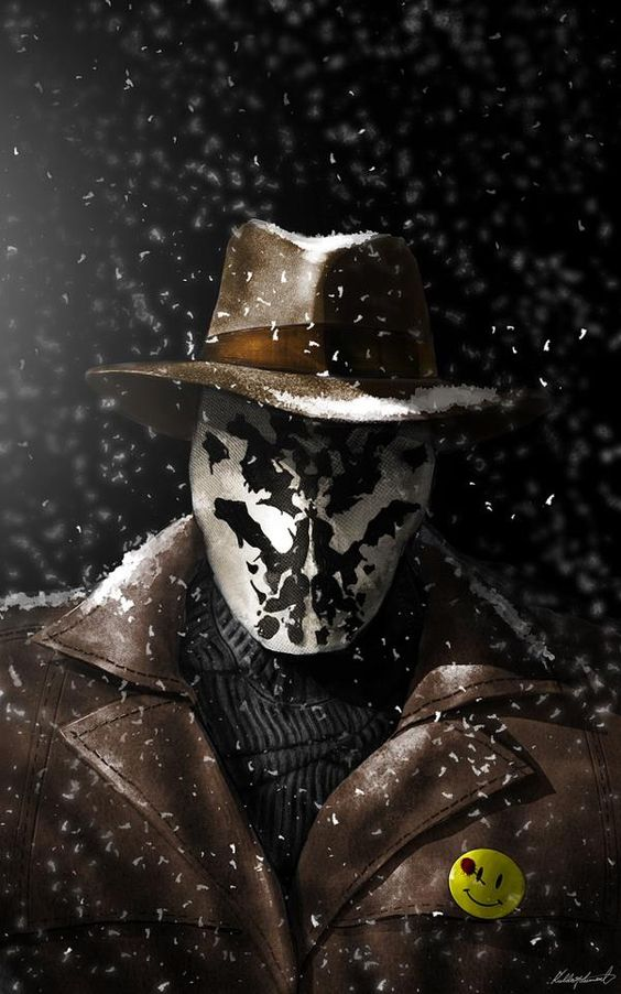 Rorschach: a real life batman/question with expertise in investigations and dectective work, an expert and adaptive street fighter and boxer, capable of using improvised tools and weapons.