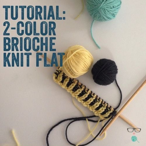 Knitting With Two Colors In The Round : Learn it now brioche knitting tutorials ballerina s