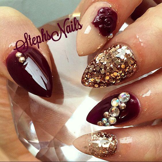 Classic nails | *Gel Nails* | Pinterest | Flower, Classic ...