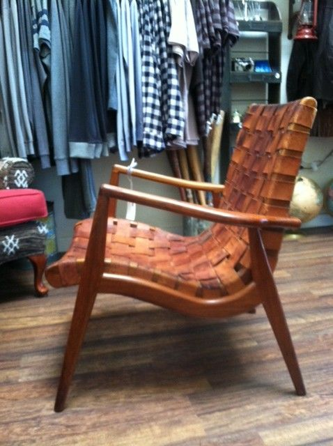 mid century modern leather chair - Google Search