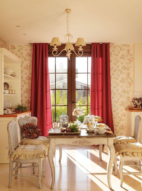 Un office muy luminoso cortinas en lola geijo. papel pintado de ...
