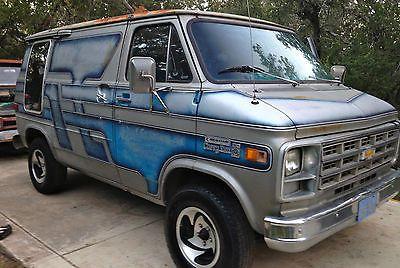 Custom 70s Vans For Sale Chevrolet G20 3 4 Ton Swb Custom Conversion Van With Sliding Side Door Custom Vans For Sale Custom Vans Gmc Vans