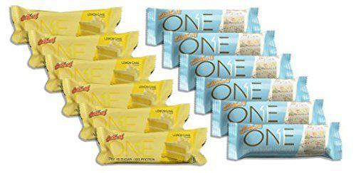 ONE Bar 6 Birthday Cake/6 Lemon Cake Variety (12 Bars Total)25.44 OZ (720G)Per Box *** Visit the image link more details.