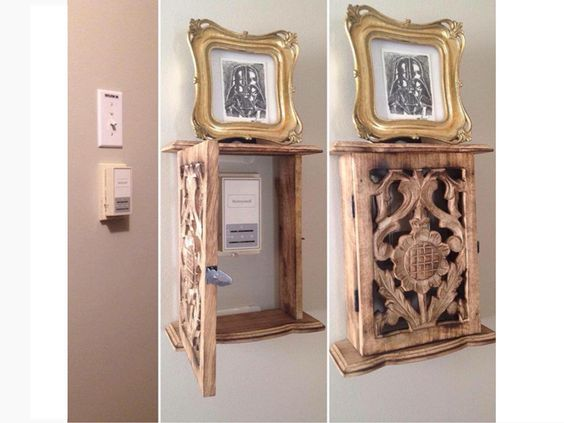Cute way to cover thermostat