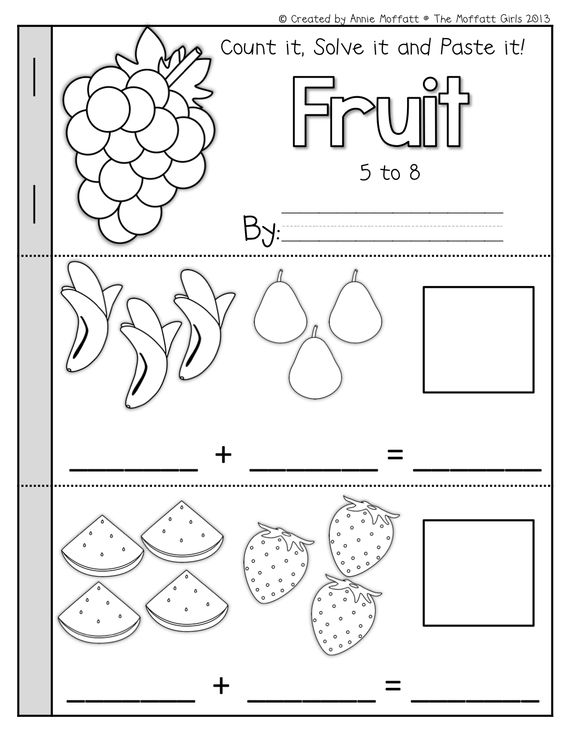 Math Simple Addition And Cut And Paste On Pinterest