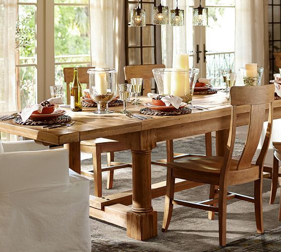 Charles Reclaimed Wood Extending Dining Table