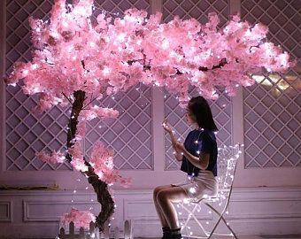 Alta Calidad 5 Tallos Longitud 108cm 42 52 Simulacion Etsy In 2021 Blossom Trees Cherry Blossom Tree Wedding Ceremony Decorations Outdoor