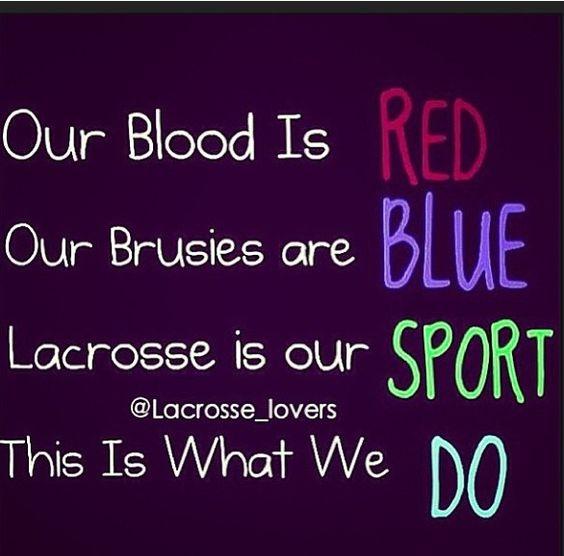 Lacrosse bruises