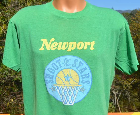 vintage 80s t-shirt NEWPORT shoot for the stars by skippyhaha
