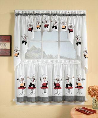 cheers chef kitchen curtain | Kitchen Curtains | Pinterest | Cheer ...