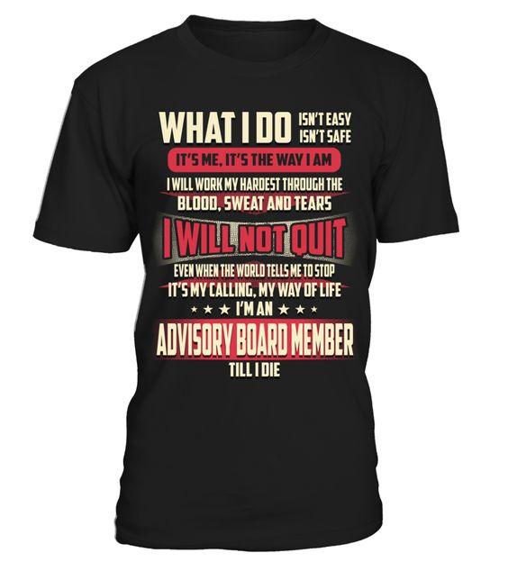 Advisory Board Member - What I Do