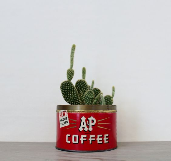 Vintage A&P Coffee Tin - Vintage Advertising Tin - Red Collectible Storage Tin - The Great Atlantic and Pacific Tea Co. New York, NY by Suite22 on Etsy