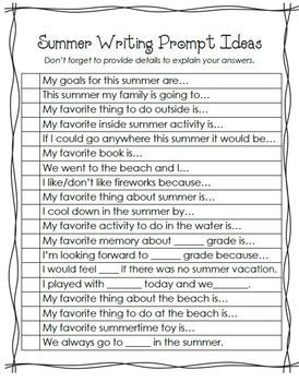 essay writing prompts for esl students