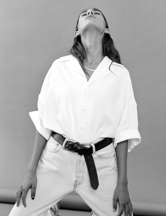 Classic White Shirt with Denim | Belted | Minimal and Undone | Masculine | Effortless | TheUNDONE #beundone: