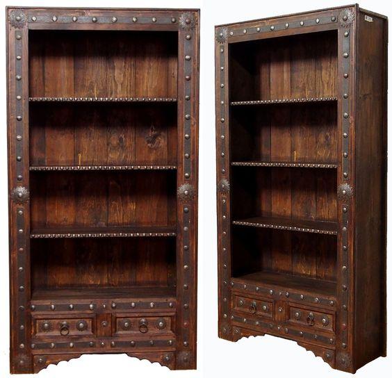 Regal Schrank Antik Look Orient Massivholz Wohnzimmerschrank