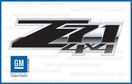 Chevy Silverado Z71 4x4 Special decals stickers Black Blackout - FSBLK - bed side 1500 2500 HD (set of 2) 2007 2008 2009 2010 2011 2012 2013 $24.77
