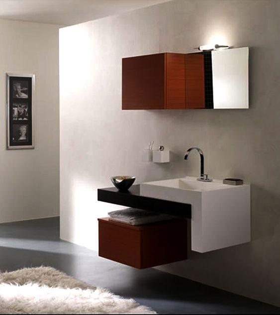 Mobile bagno sospeso design moderno n. 03  Bagni di ...