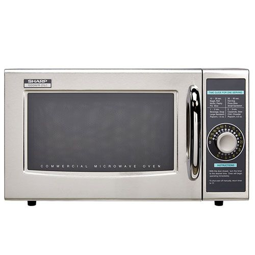 Sharp R 21lcf Medium Duty Commercial Microwave Speed Cooking Microwave Microwave Ovens