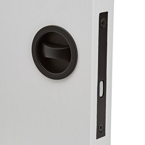 Black Cavity Sliding Privacy Door Lock Round I Mucheln Door Handles Sliding Door Handles Cavity Sliding Doors