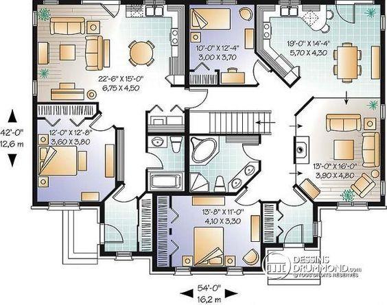 Plan Construction Foyer Logement : Plan de rez chaussée logement grands parents