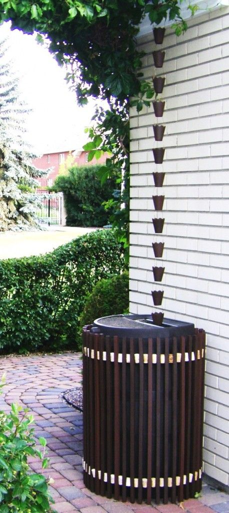 over a barrel - DIY rain chain instructions: