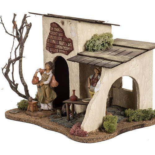 Posada Para El Pesebre 12 Cm Fontanini Casas Para El Pesebre Casas Para Belenes Casas De Navidad