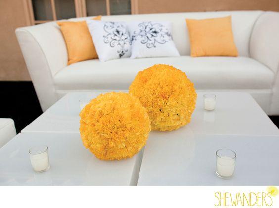 www.indigobodasyeventos.com  ideas decoración boda amarillo Índigo Bodas y Eventos