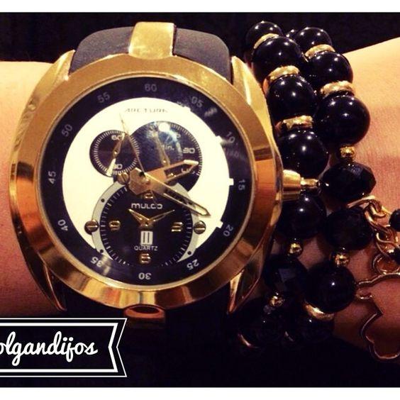 Reloj Mulco Negro con Dorado
