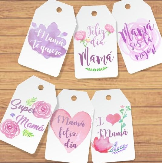 Kit Imprimible Dia De La Madre Flores Acuarela Rosa Tags Etiq Etiquetas De Regalo Imprimibles Tarjetas Del Dia De Las Madres Imprimibles Del Dia De Las Madres