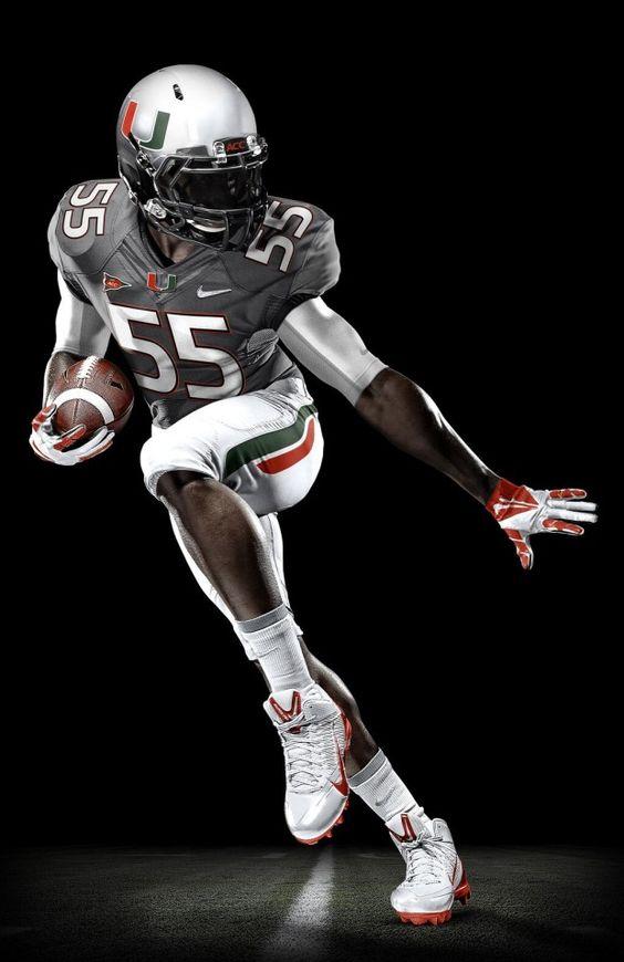 Nike NFL Jerseys - Miami Hurricanes 2013 smoke gray football uniforms | sports ...