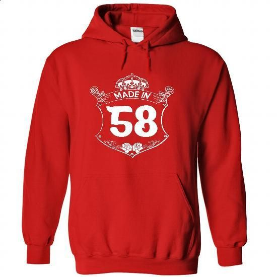 Made in 58 - Hoodie, t shirt, hoodies, t shirts - #striped tee #tshirt painting. MORE INFO => https://www.sunfrog.com/Names/Made-in-58--Hoodie-t-shirt-hoodies-t-shirts-1302-Red-22744897-Hoodie.html?68278