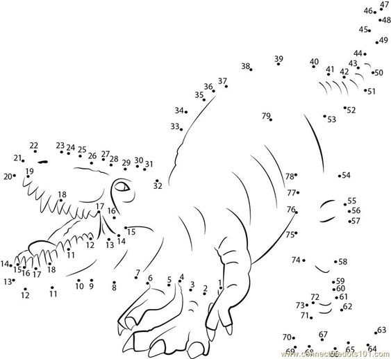 Dinosaur Dot to Dot Tracing | Activity Shelter | Kids Worksheets ...