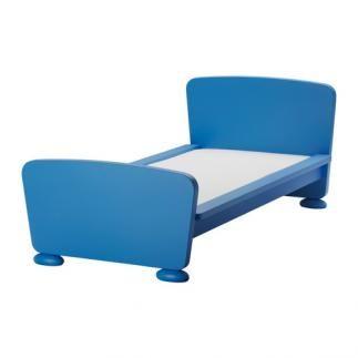 Se vende estructura de cama con somier azul ikea segunda - Estructuras de cama ...