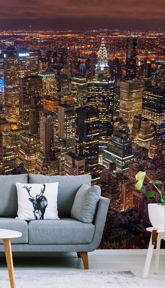 4 Large Wallpaper Designs That Transform Small Spaces Murals Wallpaper New York Bedroom Wallpaper Bedroom Nyc Rooms