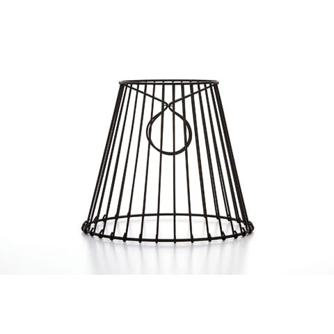 Cleveland Vintage Lighting Black Metal Wire Frame Clip On Lampshade Metal Lamp Shade Metal Lamp Antique Lamp Shades