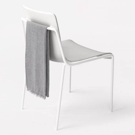 nendo follows up milan exhibition with stacking chair for kokuyo bela stackable office chair