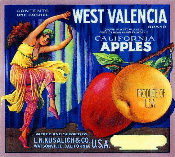 crate Labels | apple fruit crate labels