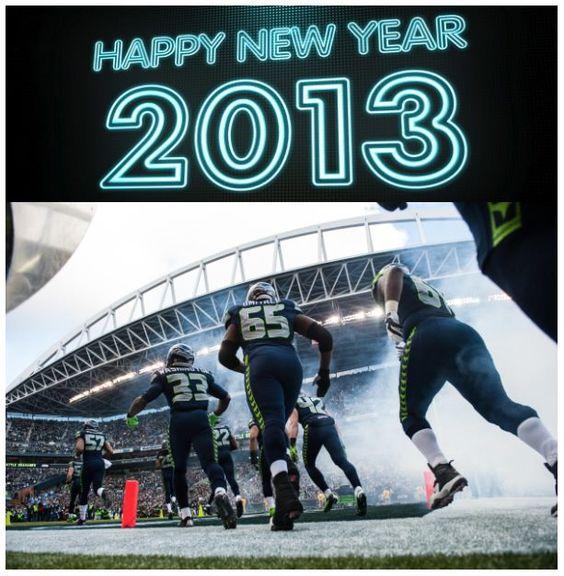 Seattle Seahawks Happy New Year 2013