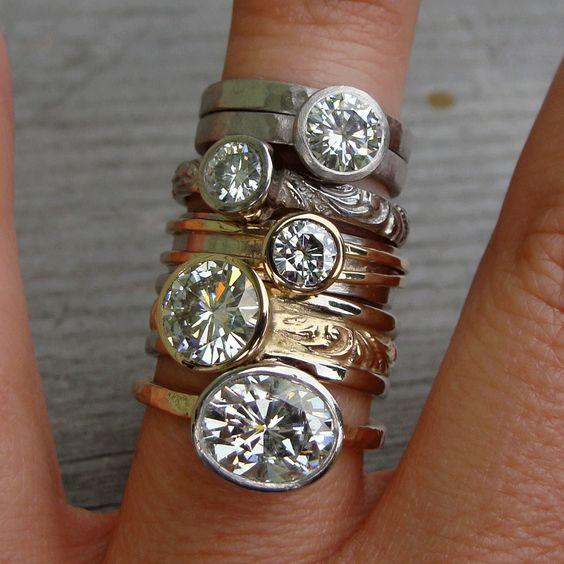 A week's worth of rings by McFarland Designs
