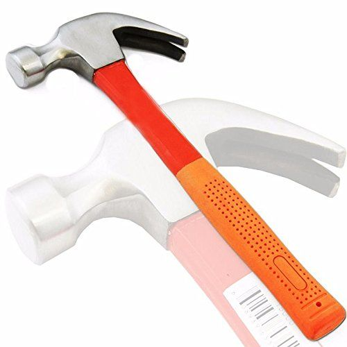 Curved Claw Hammer 16 Oz Fiberglass Handle Ripping Nails With Non Slip Grips Claw Hammer Hammer Handles Hammer