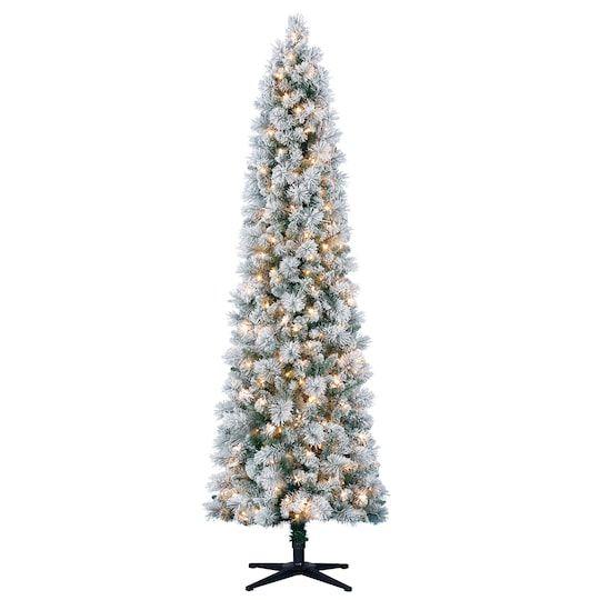 7ft Pre Lit Artificial Slim Christmas Tree Clear Lights By Ashland Michaels Slim Christmas Tree Slim Artificial Christmas Trees Skinny Christmas Tree